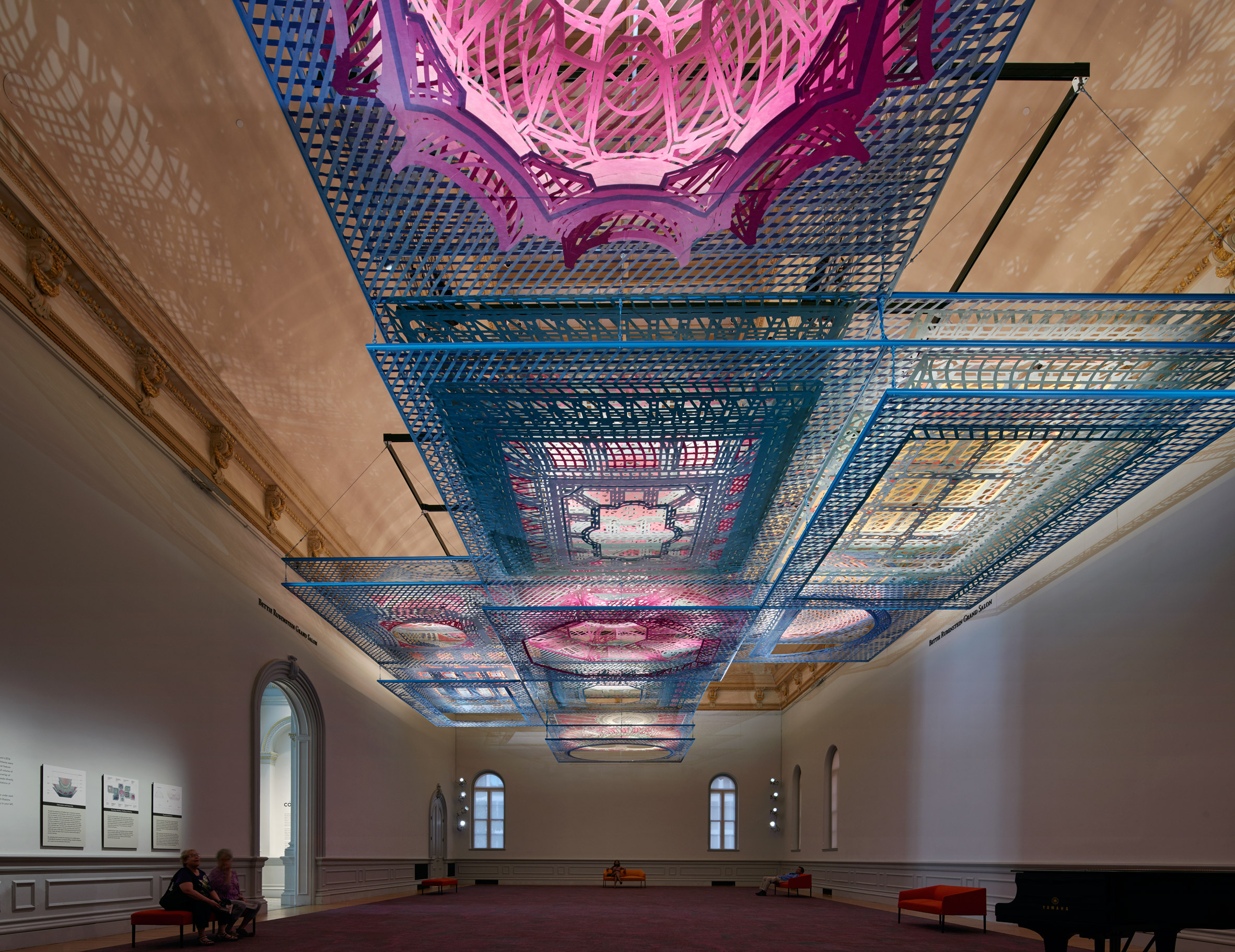 FreelandBuck combines historic ceiling designs for Smithsonian museum installation