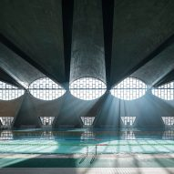 Image of swimming pool with vaulted ceiling named best architecture photograph of 2017