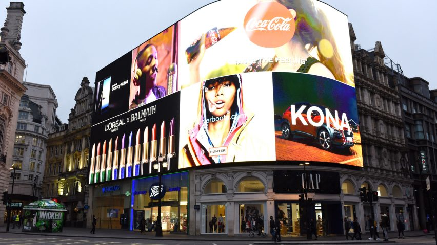 Piccadilly Circus opens new billboard.