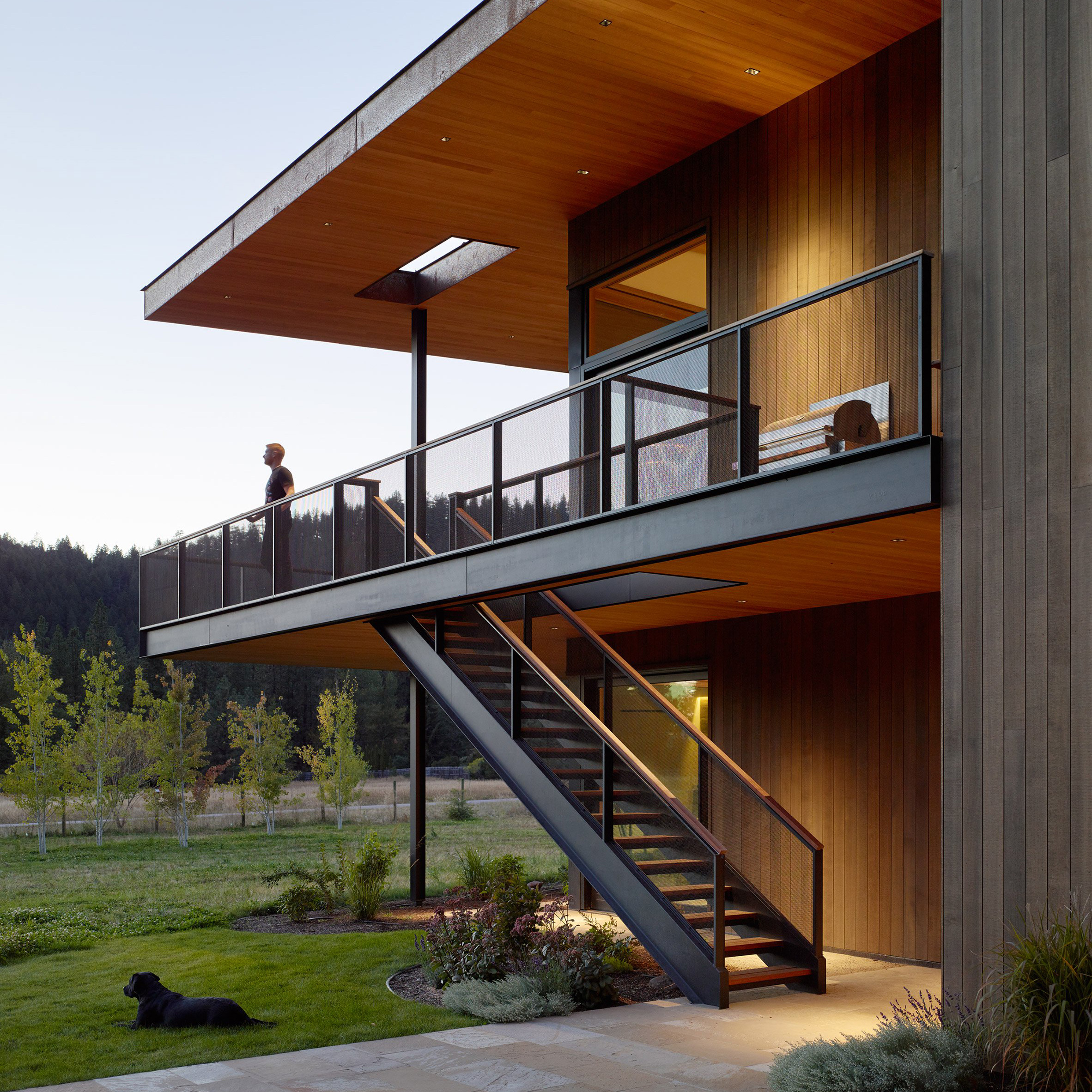 Carney Logan Burke clads remote Montana home in stone and oxidised