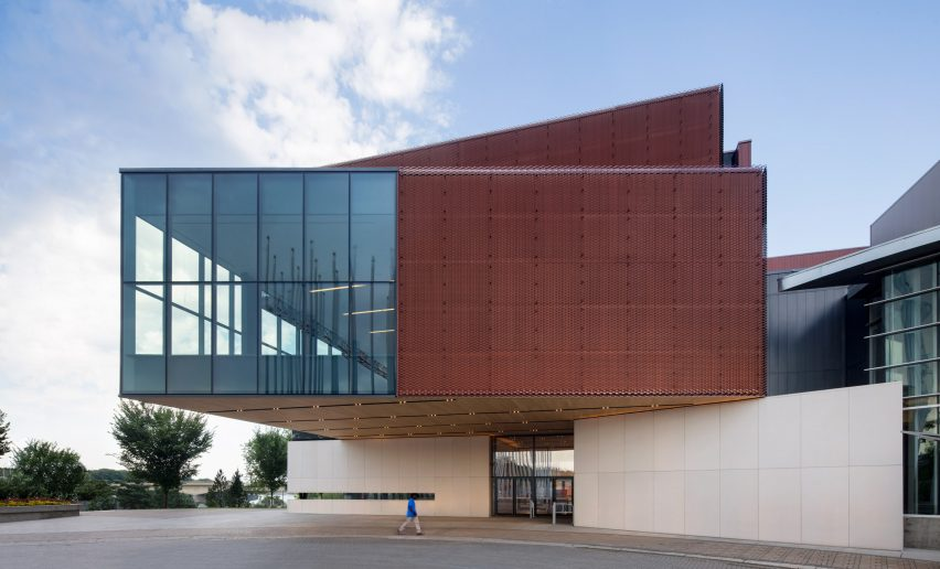 Remai Modern Museum In Canadian Prairies Comprises Stacked