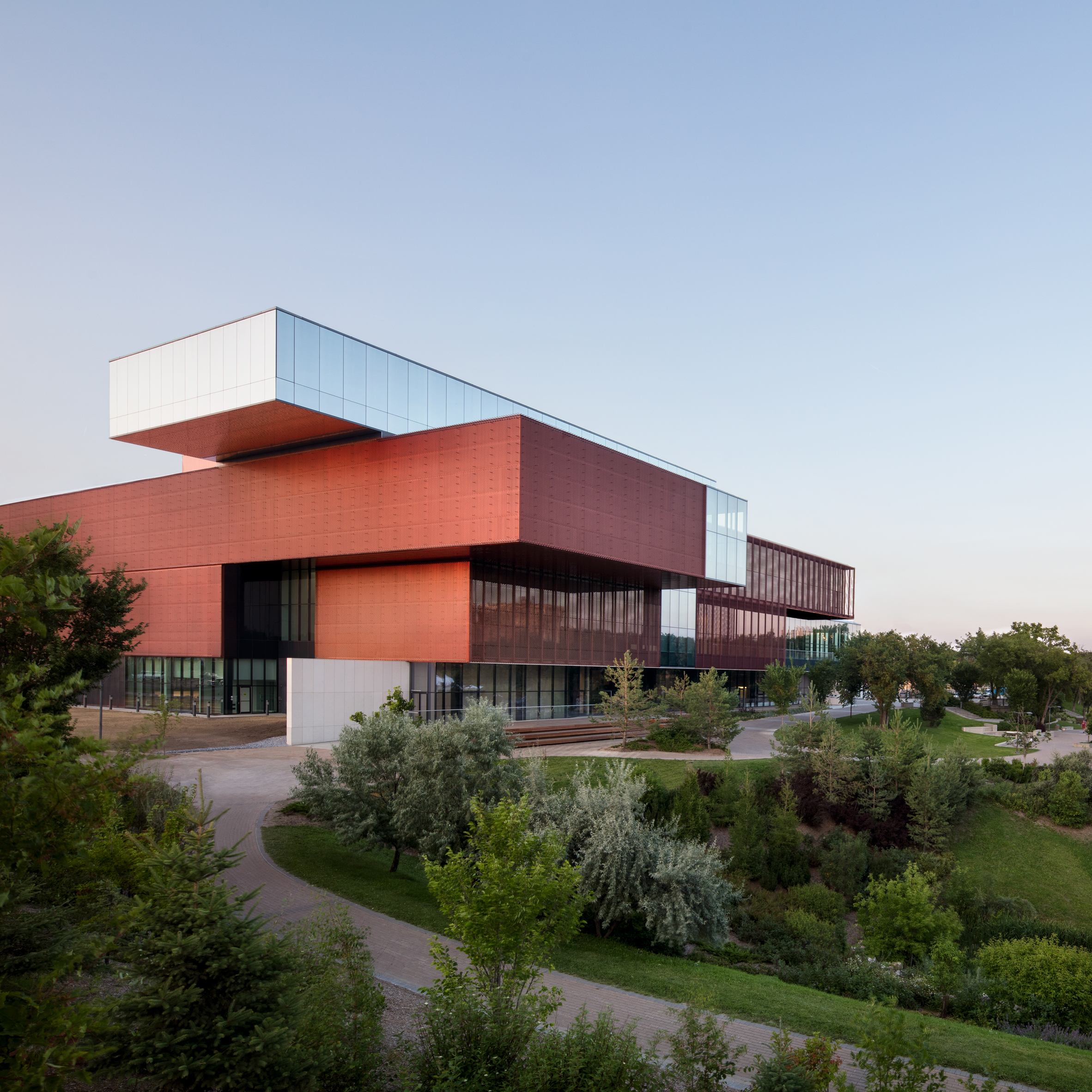 Remai Modern art museum is a stack of metal and glass blocks in the  Canadian Prairies