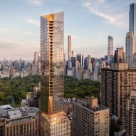 "Snøhetta unveils ""chiselled"" New York tower with bronze details"