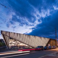 SHoP extends Santa Fe art gallery with folded aluminium corner