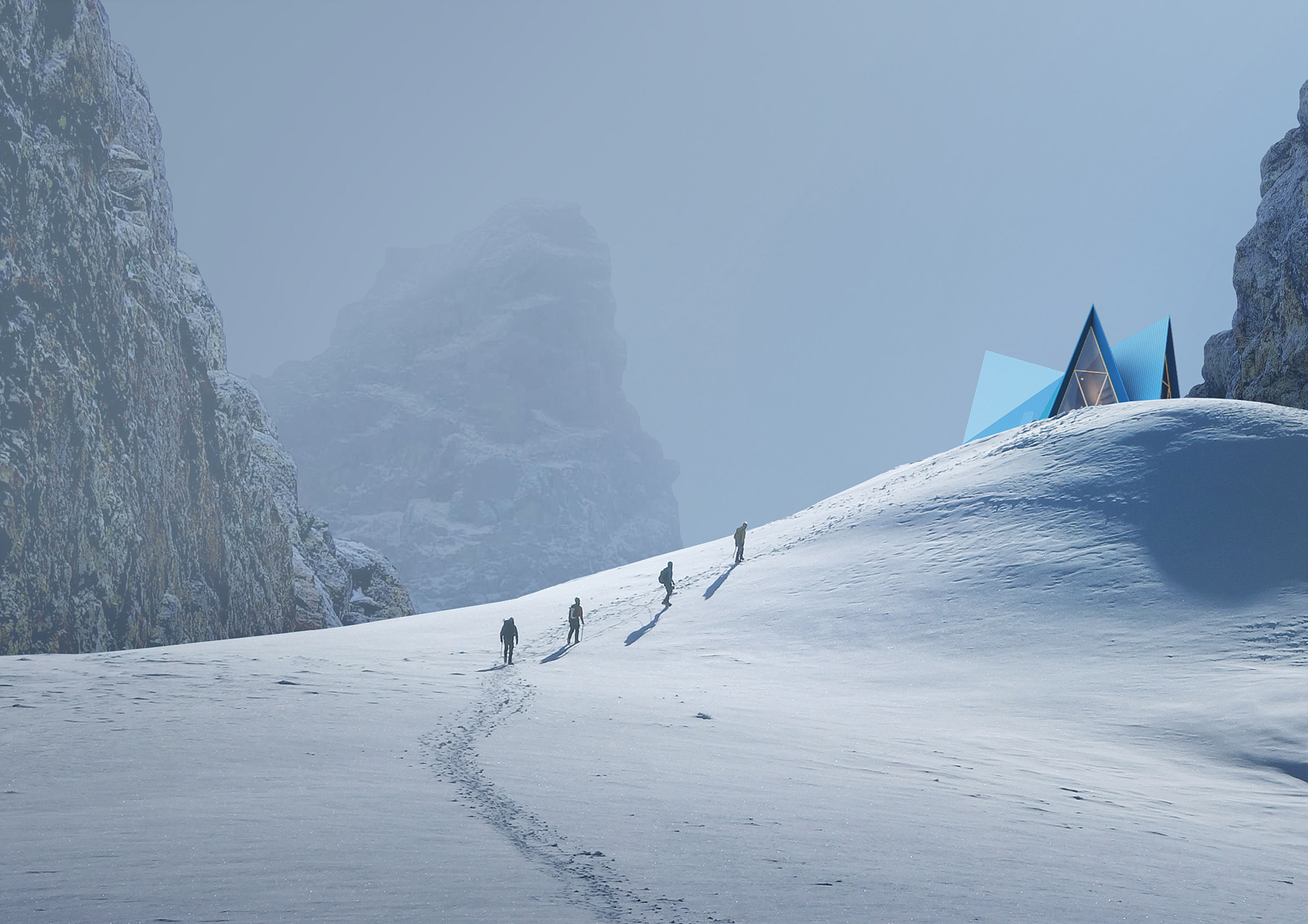 Skýli mountain shelter is designed to withstand extreme weather conditions