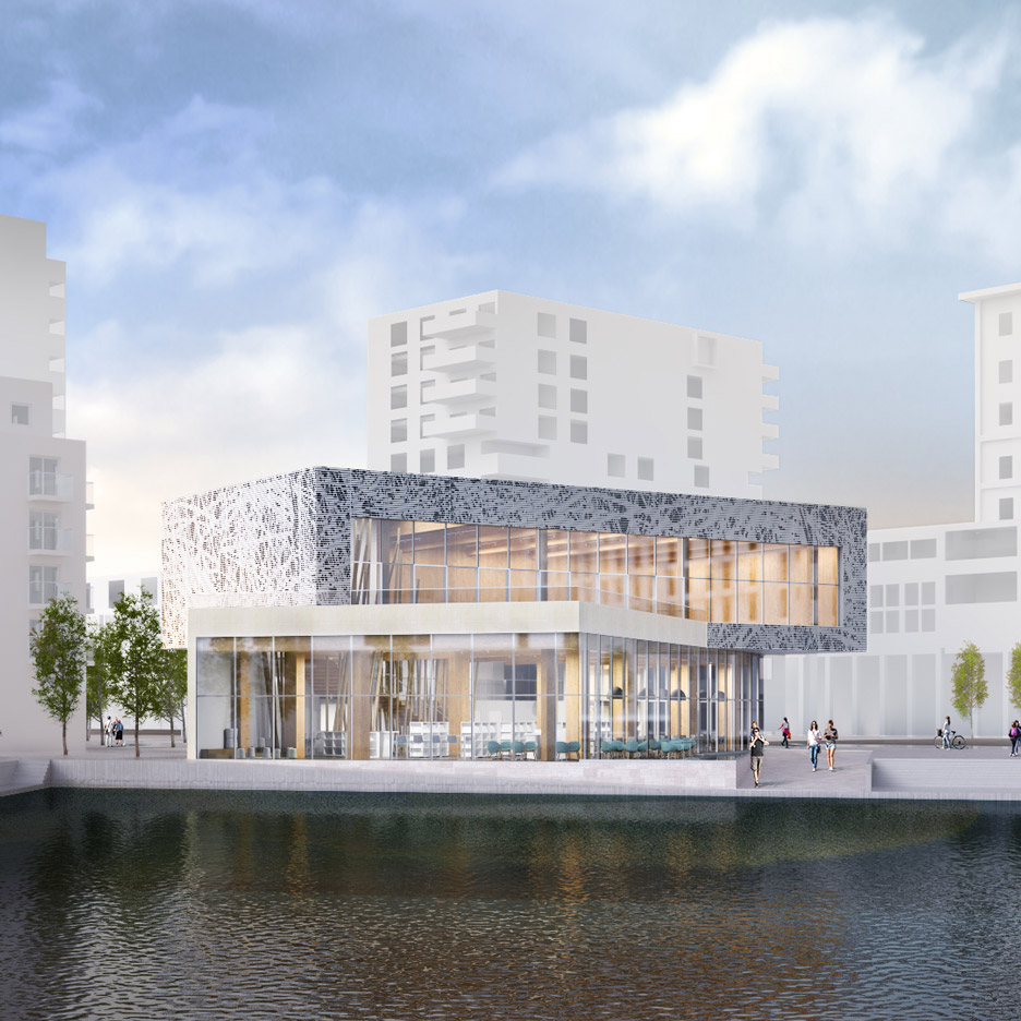architecture building design. Winning Design Revealed For New Library At London\u0027s Brutalist Thamesmead Estate. Architecture Building