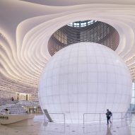 MVRDV completes library shaped like a giant eye in Chinese city Tianjin