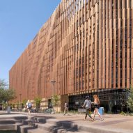Sandstone and metal louvres wrap massive student housing complex in Arizona