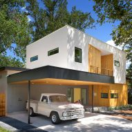 Matt Fajkus organises Austin home around old oak tree