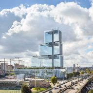 First photos emerge of tiered tower built by Renzo Piano to house Paris law courts