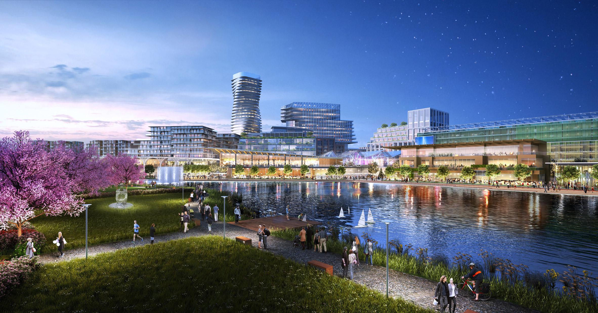 Union Point by Elkus Manfredi Architects and Sasaki Associates