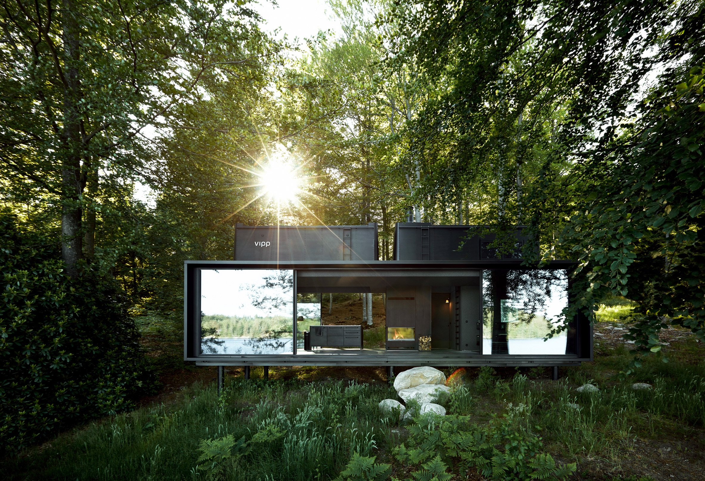 "Vipp offers ""out of the ordinary"" hotel stays in a woodland cabin or an urban loft"