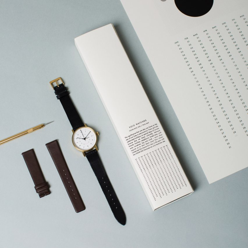 Dezeen has teamed up with Swedish brand Void Watches to give readers the chance to win one of five limited-edition V03W-365 timepieces.