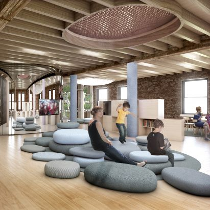 Big designs kindergarten in new york city for wework