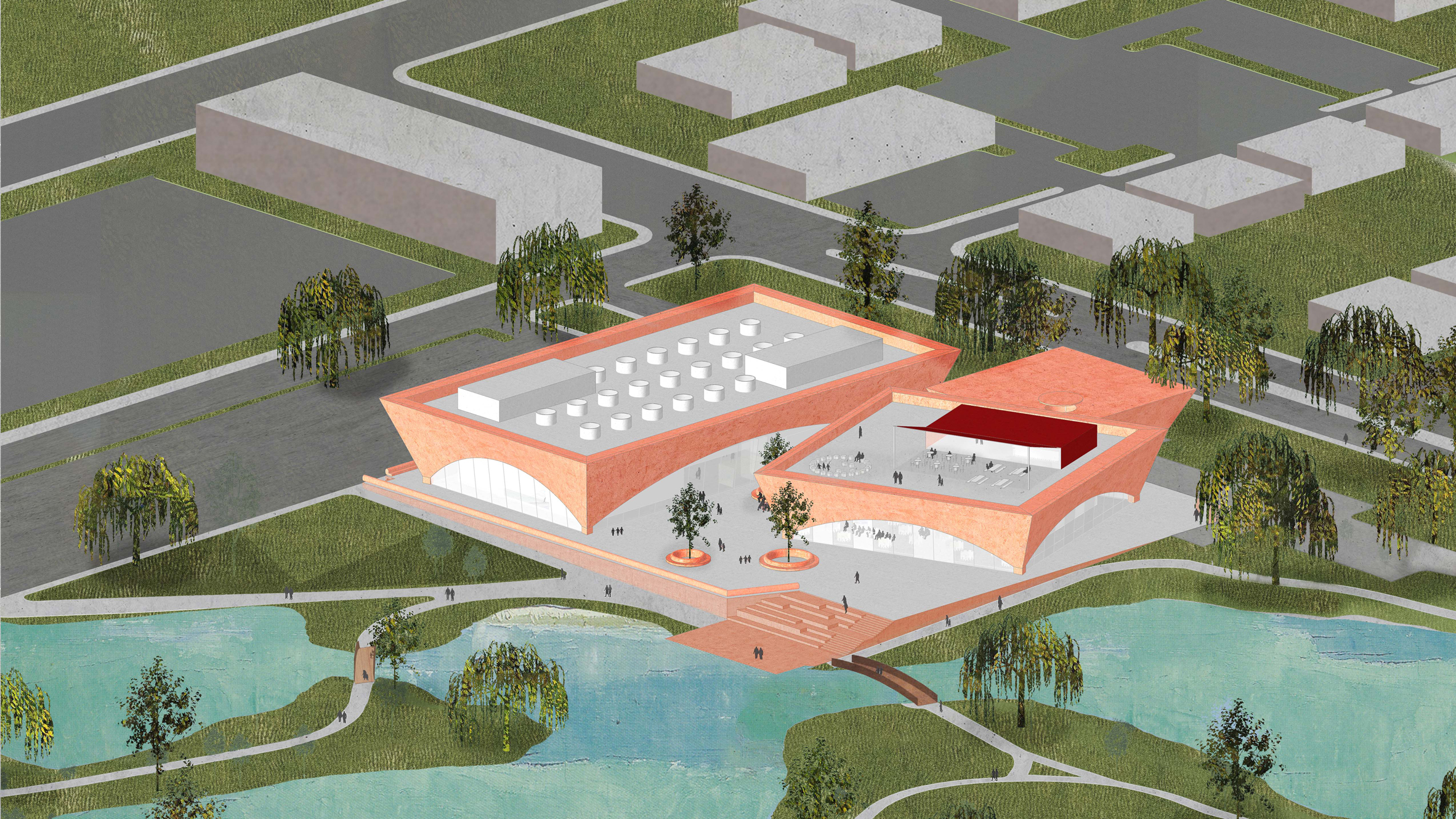 David Adjayes Red Library And Events Complex In Florida Wins Approval