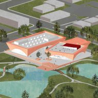 David Adjaye's red library and events complex in Florida wins approval