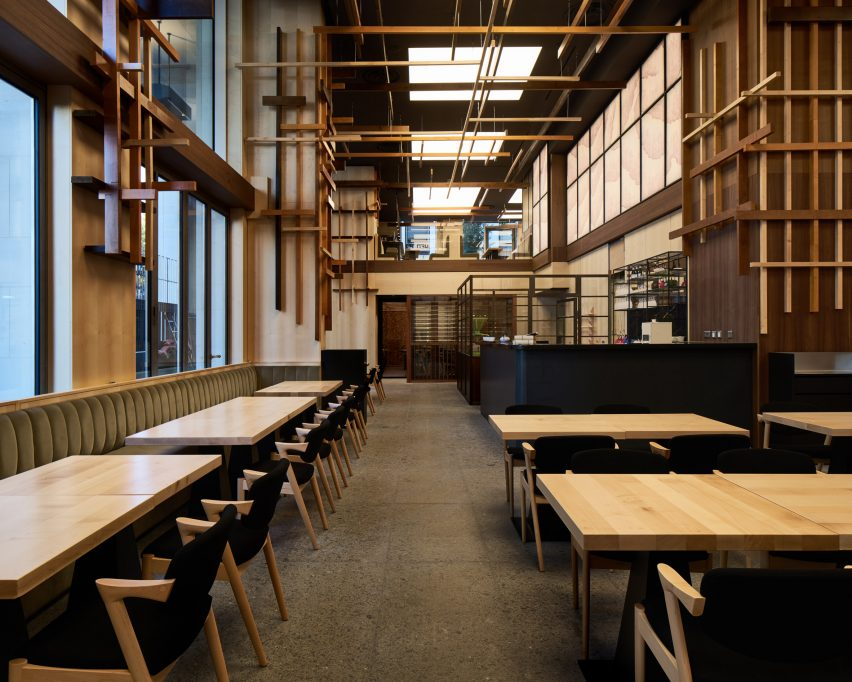 sybarite bases japanese restaurant interior on bamboo forests rh dezeen com  japanese restaurant design ideas