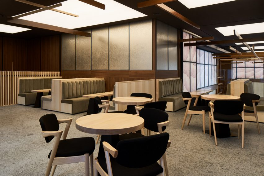 sybarite bases japanese restaurant interior on bamboo forests rh dezeen com