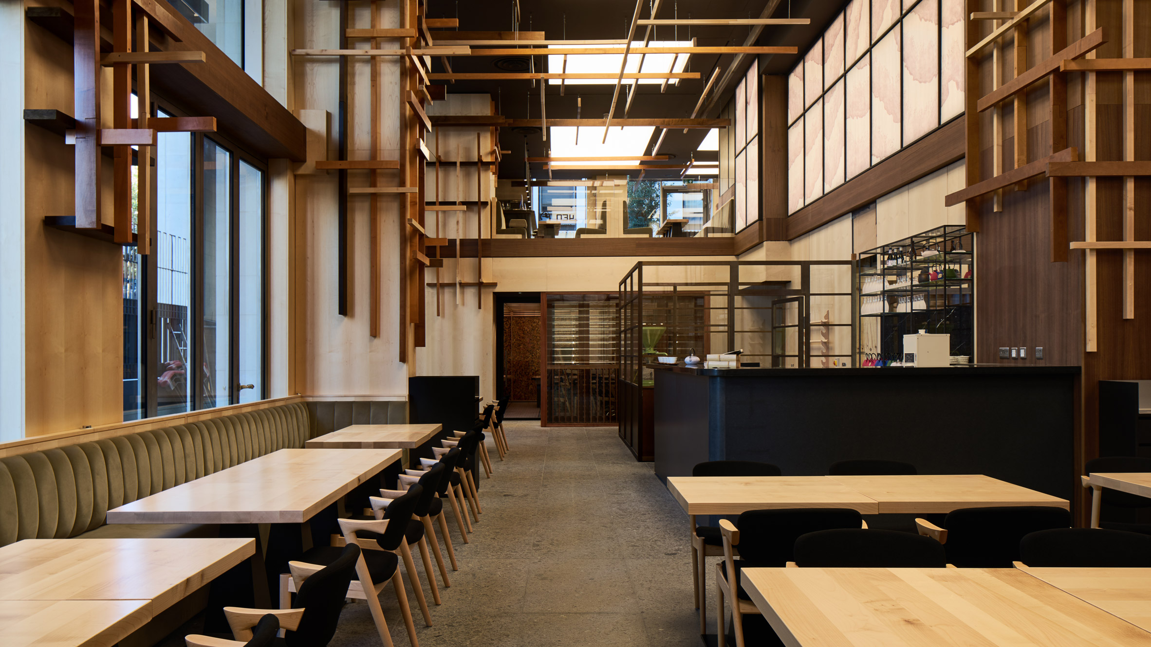 sybarite bases japanese restaurant interior on bamboo forests rh dezeen com  wooden restaurant interior design