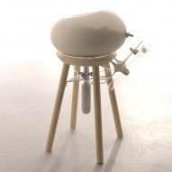 Yi-Fei Chen designs a stool for escaping uncomfortable social situations