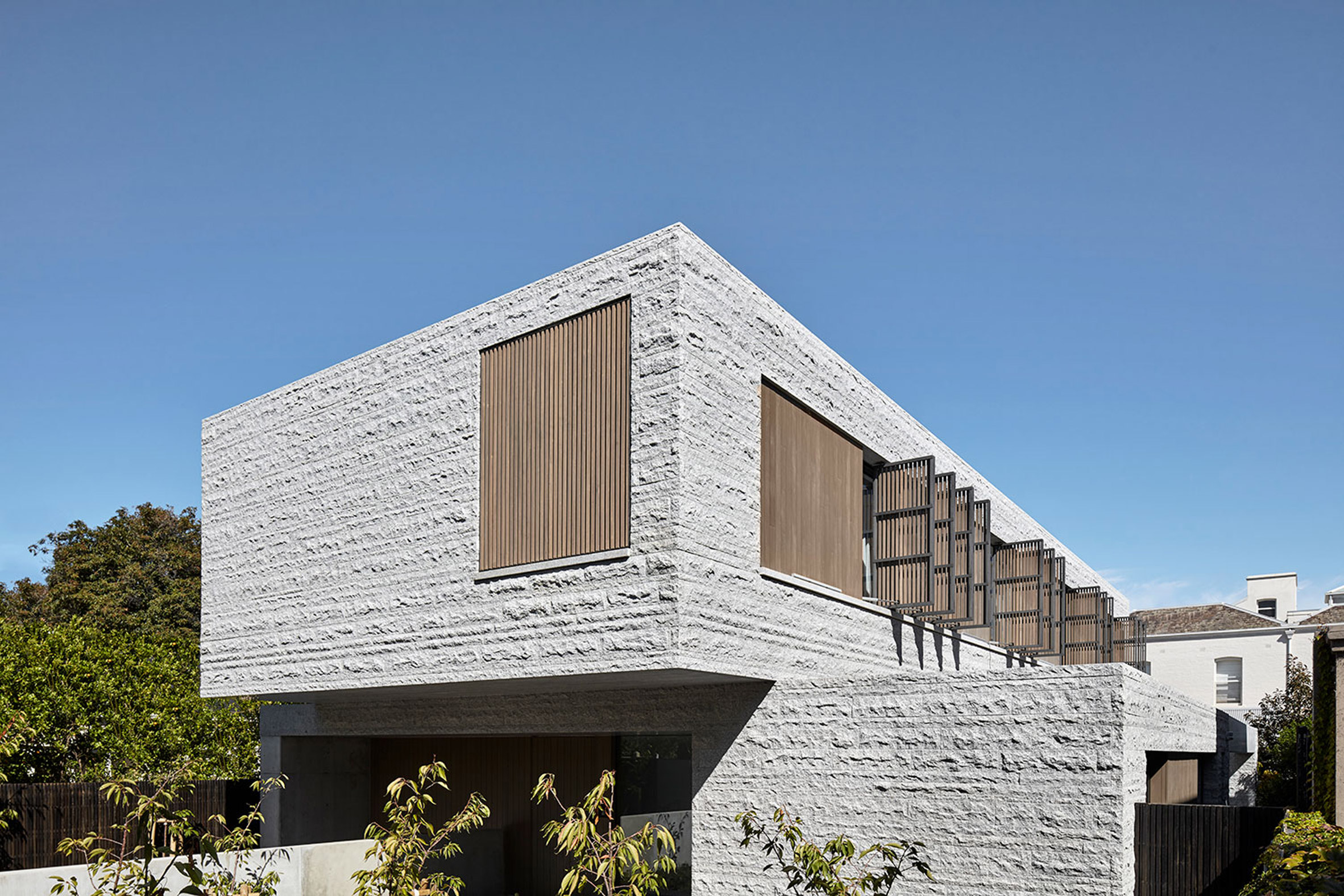 B.E Architecture combines different textures of granite at monolithic Melbourne house