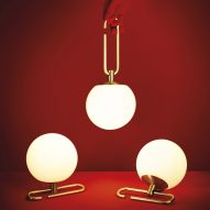 Neri&Hu designs lantern-inspired lamps that hang from adjustable brass rings