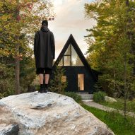 Jean Verville overhauls A-frame cottage in the Quebec forest