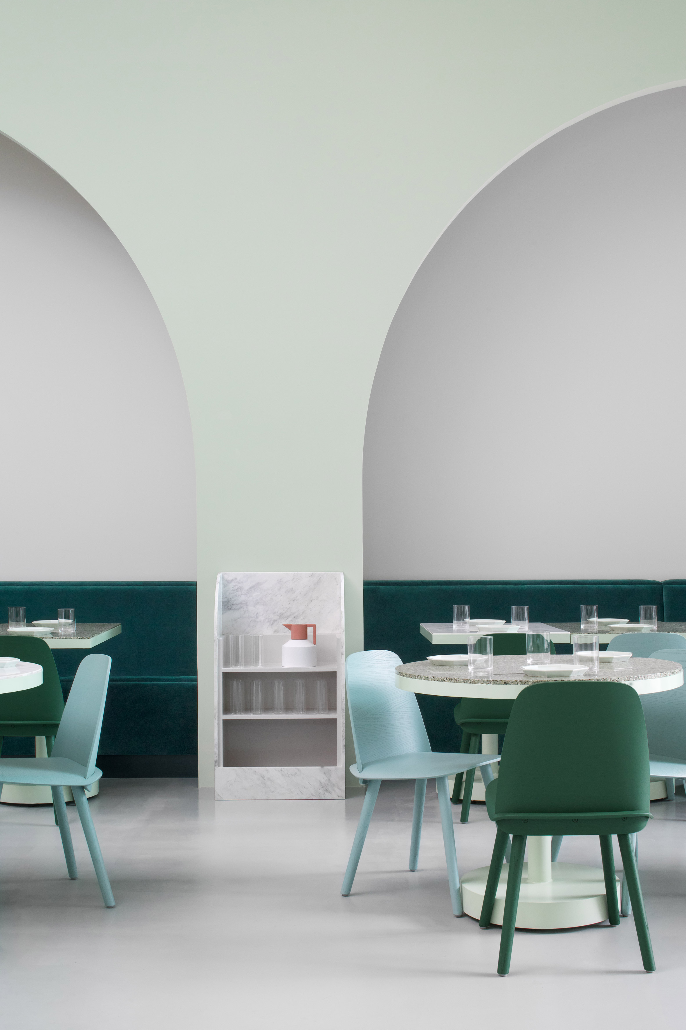 Chengdu cafe features interiors inspired by Wes Anderson's The Grand Budapest Hotel