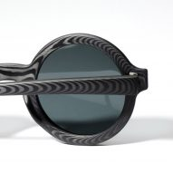 Rodrigo Caula designs carbon-fibre sunglasses with woodgrain patterns