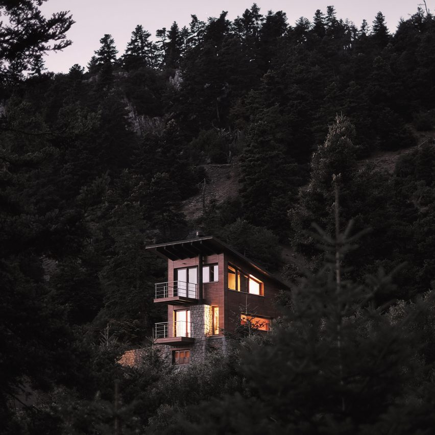 Greek mountain home by Natalia Kokosalaki blends ideas from chalets on indian mountain homes, european mountain homes, moonlight mountain homes, swiss mountain homes, asian mountain homes, modern mountain homes, canadian mountain homes, chinese mountain homes,