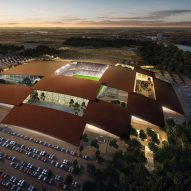 BIG designs chequerboard-covered stadium that will house the Texas rodeo