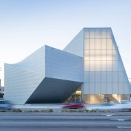 Steven Holl's Institute for Contemporary Art comprises sculptural blocks of zinc and translucent glass