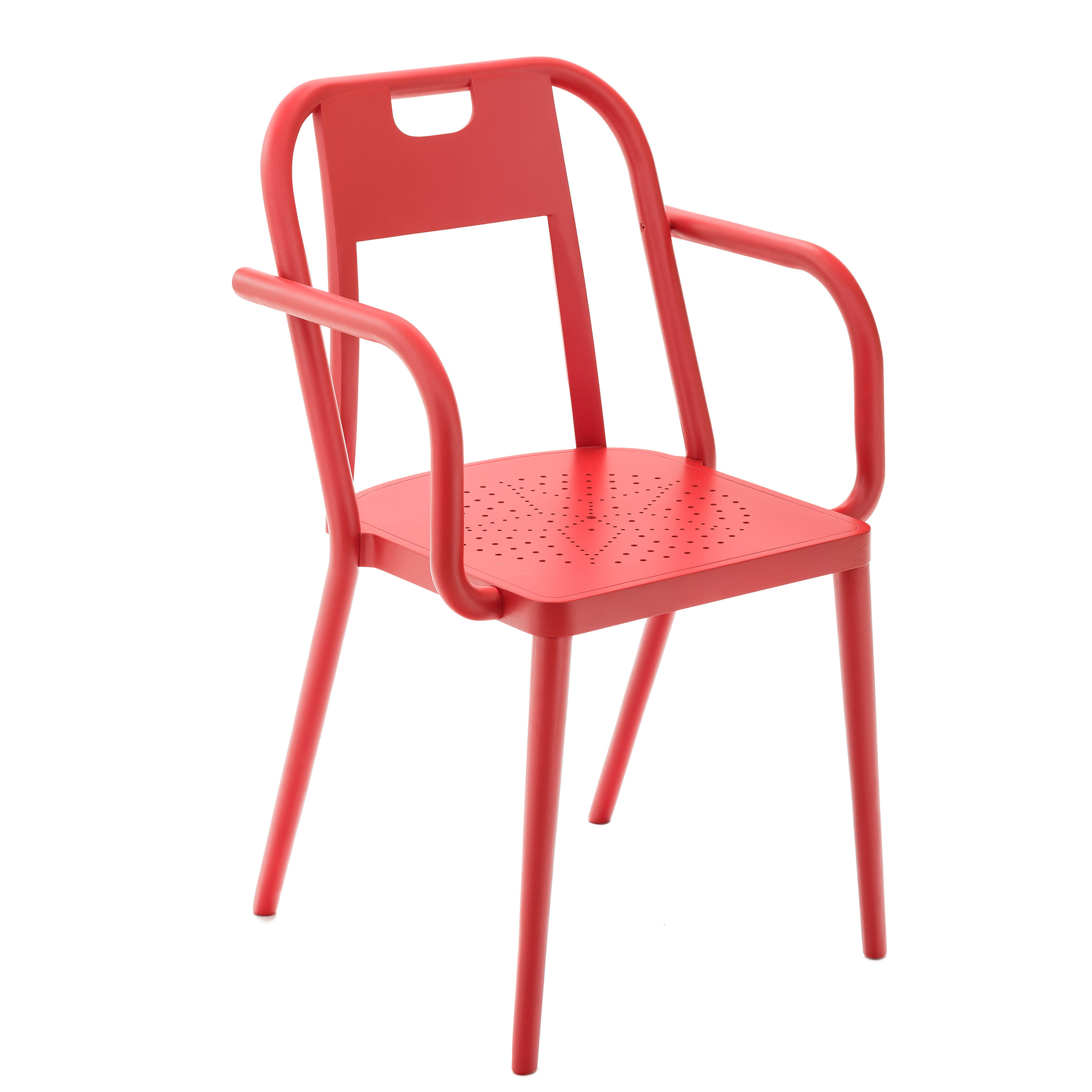 Ineke Hans combines new and old production techniques to create chair for the Kunsthalle Wien