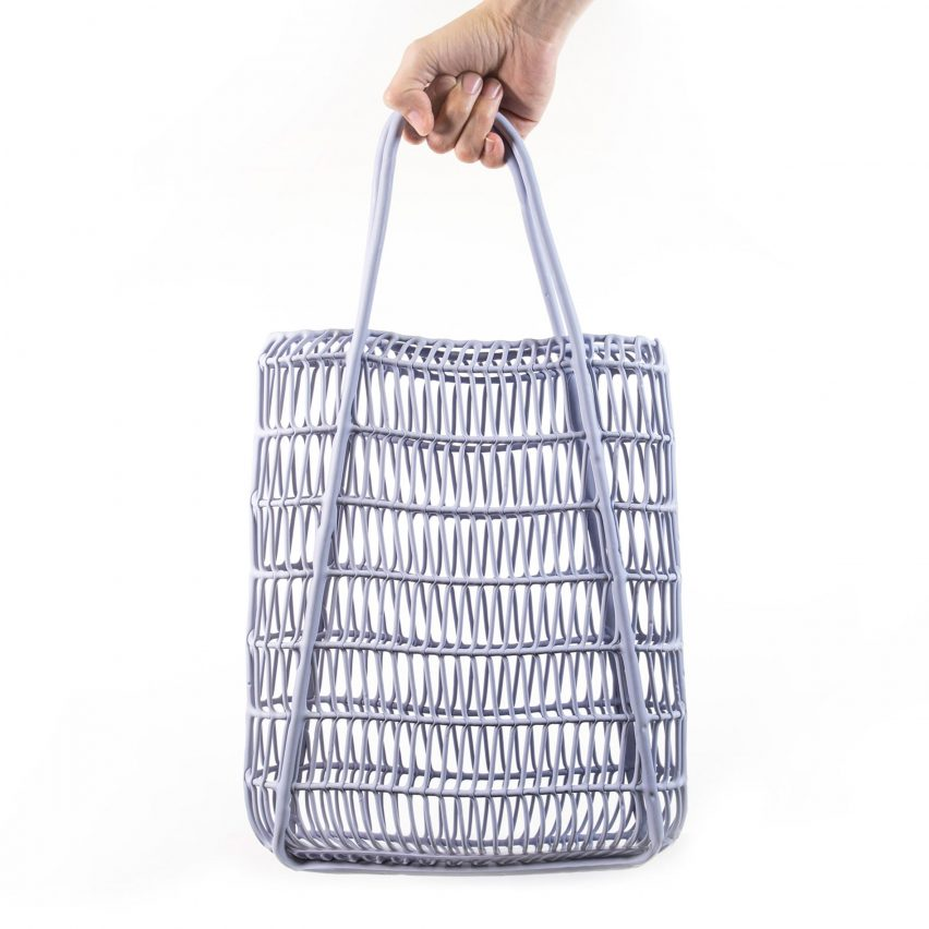 Liquid Printed Bag and Lamp by MIT Self-Assembly Lab and Christophe Guberan