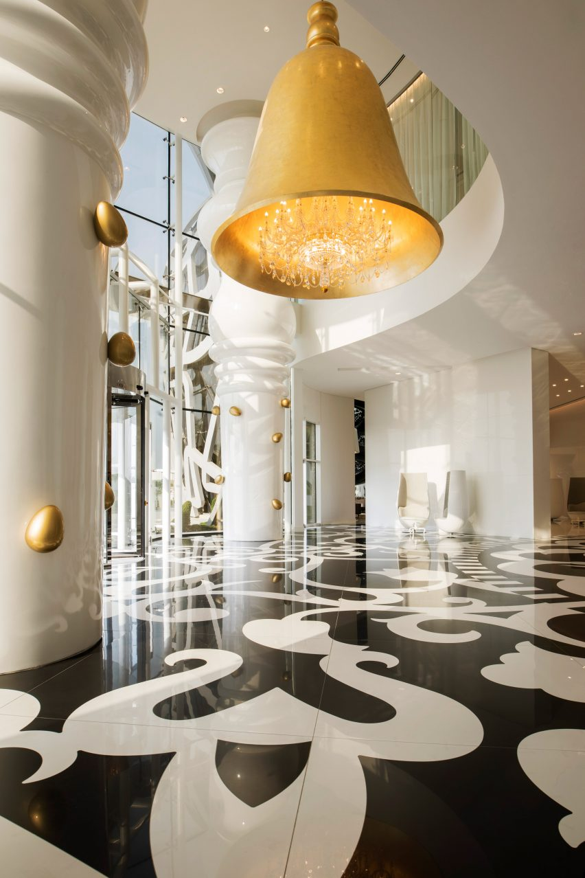 Marcel Wanders uses clashing patterns and oversized furniture for hotel