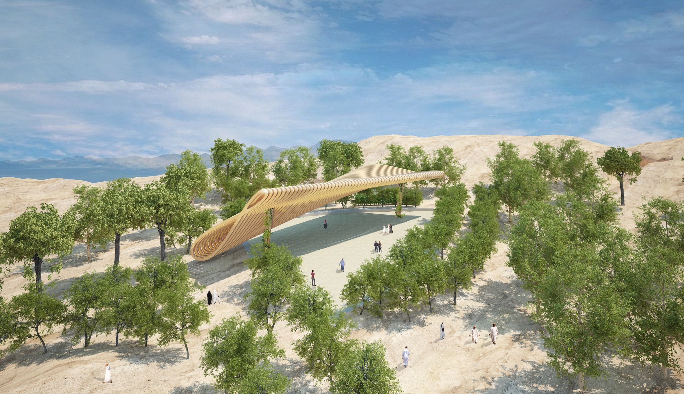 Paul Cocksedge designs 33-metre-long garden canopy that mimics the path of the sun