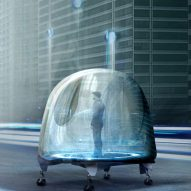 Oiio envisions cars as transparent pods that move both horizontally and vertically