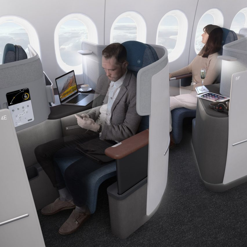 PearsonLloyd designs new business class environment for Lufthansa