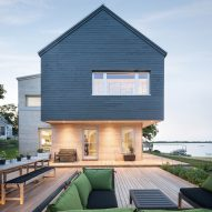 Go Logic creates gable-roofed home for oceanfront site in Massachusetts