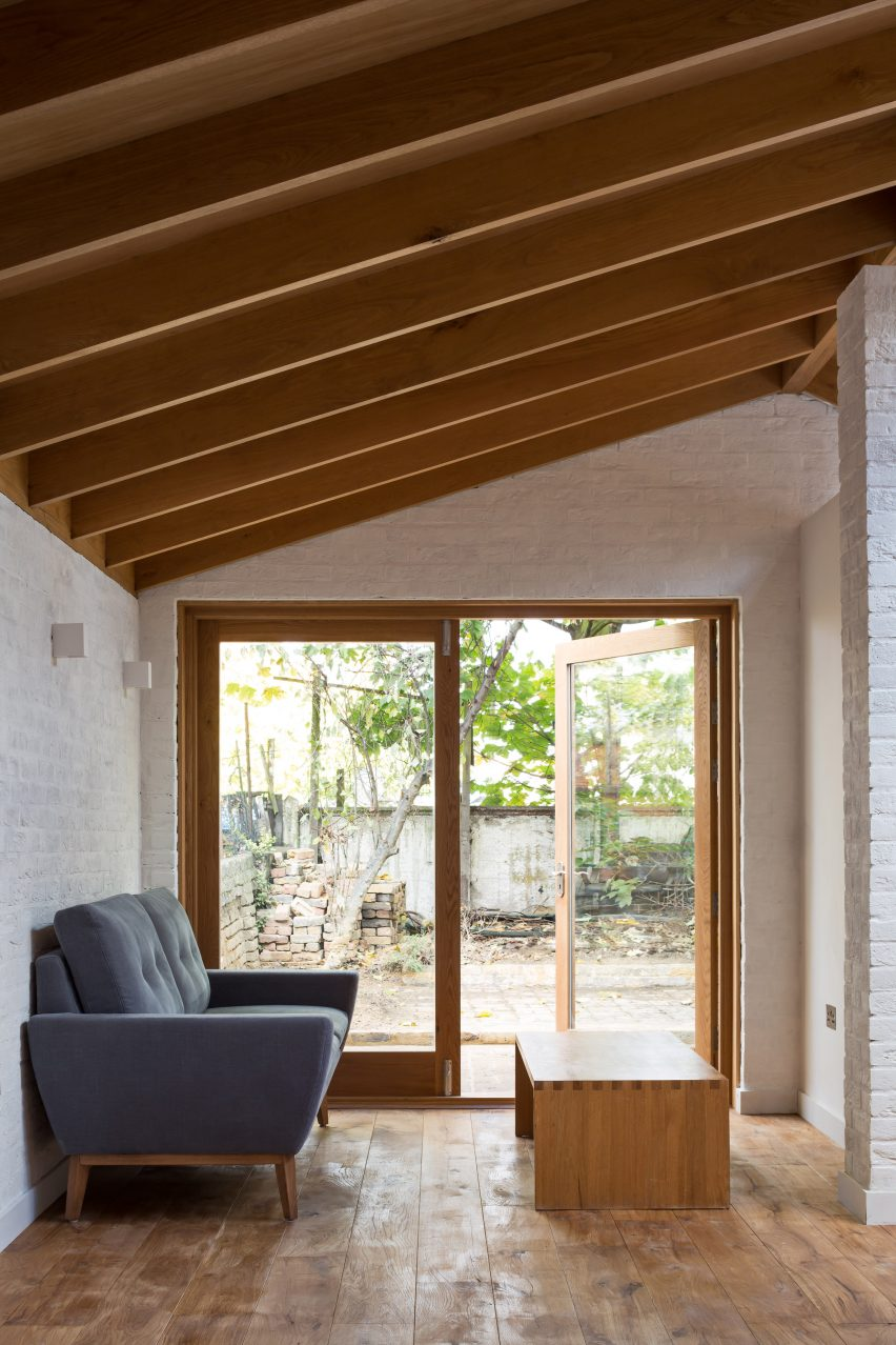 Grey Griffiths Architects London Extension Features Exposed Roof Structure