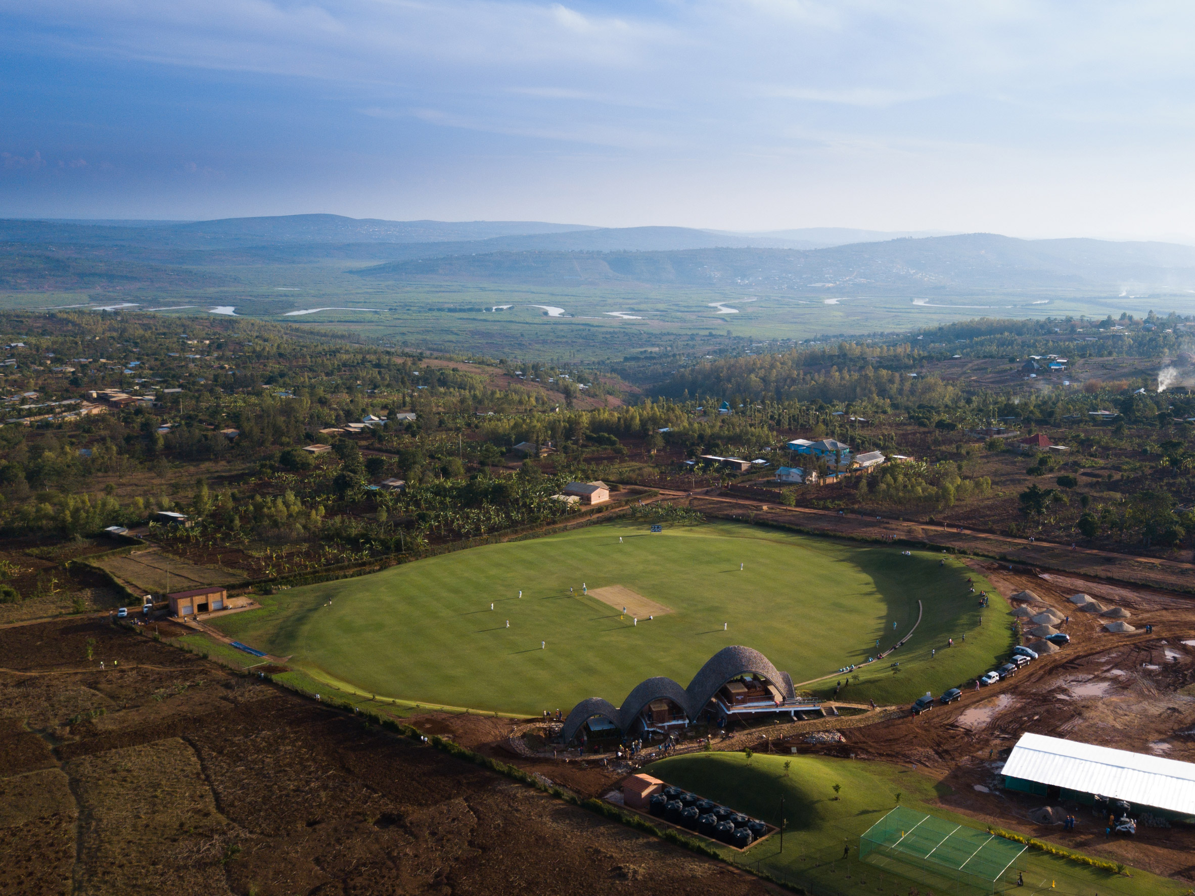 Rwanda cricket stadium by Light Earth Designs