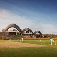 Light Earth Designs creates sustainable cricket pavilion of self-supporting parabolic roofs