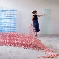 Fransje Gimbrere creates textile sculptures from natural fibres and recycled plastic
