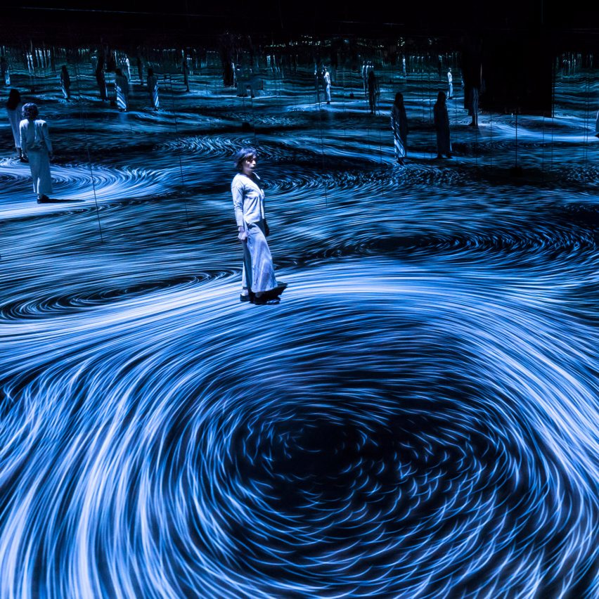 teamLAB installation inspired by whirlpools