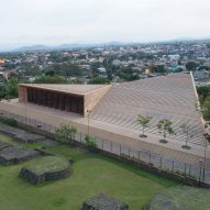 Triangular concert hall by Productora and Isaac Broid takes cues from Aztec ruins