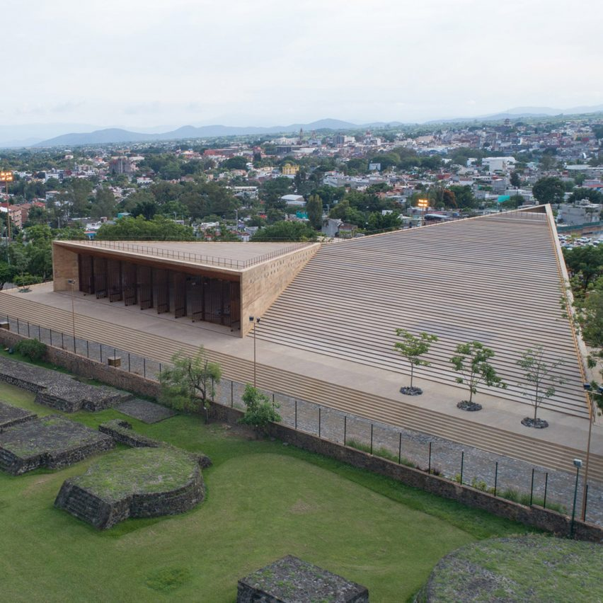 Teopanzolco Cultural Center by Productora and Isaac Broid