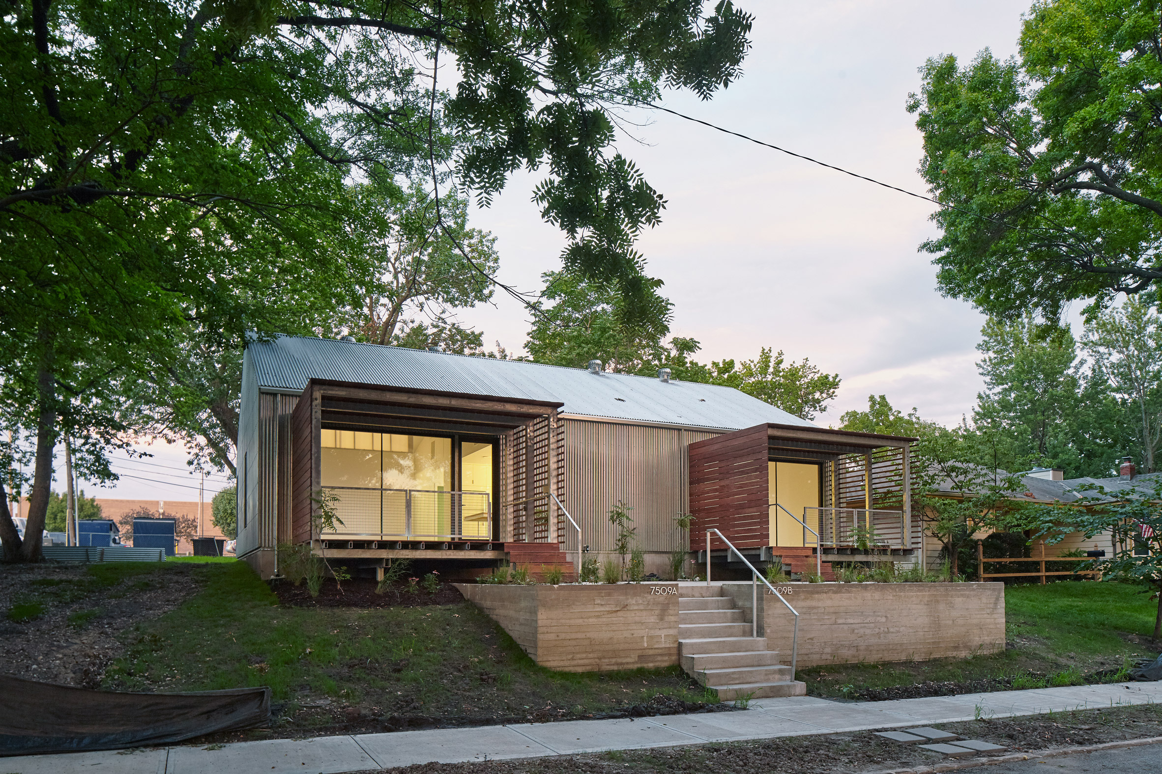 Kansas architecture students wrap affordable home in corrugated metal