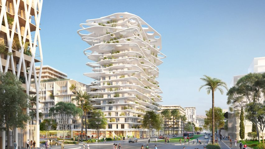 nice apartment building design. Sou Fujimoto designs tower with wavy canopies and verdant balconies for new  development in Nice