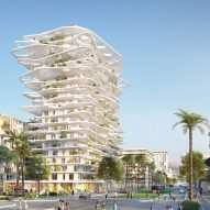 Sou Fujimoto designs tower with wavy canopies and verdant balconies for new development in Nice