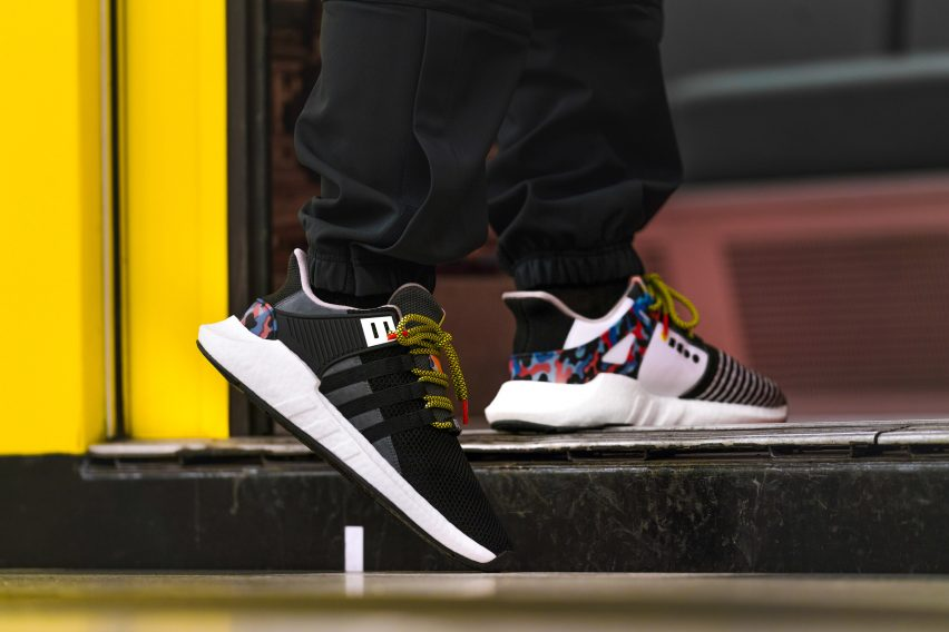 new style fa6b3 e14b0 The limited-edition collection of 500 pairs sees the classic model updated  in a black mesh canvas with white leather inserts, with the subway-seat  print ...